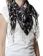 Серый кашемировый платок Роза
