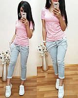 Женские модные укороченные штаны (6 расцветок)