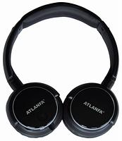 Беспроводная накладная Bluetooth гарнитура ATLANFA  AT-7612 блютуз+MP3 плеер+FM радио