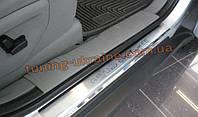 Накладки на пороги NataNiko Premium на Jeep Grand Cherokee 2004-2010