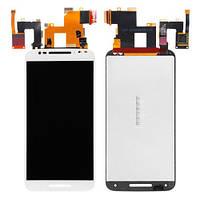 Дисплей (экран) для Motorola XT1572 Moto X Style + с сенсором (тачскрином) белый