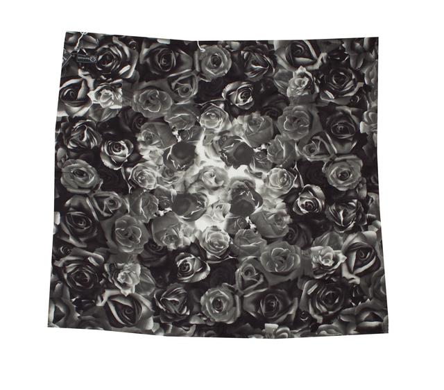Модный кашемировый платок с принтом розы розовый 2