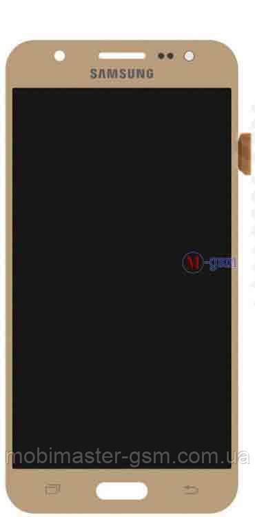 LCD модуль Samsung J500F, J500H, J500M золотистый h/c