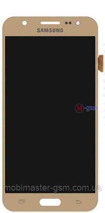 LCD модуль Samsung J500F, J500H, J500M золотистый h/c, фото 2