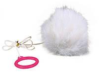 Мячик Trixie Plush Ball для кошек меховой на резинке, 7 см