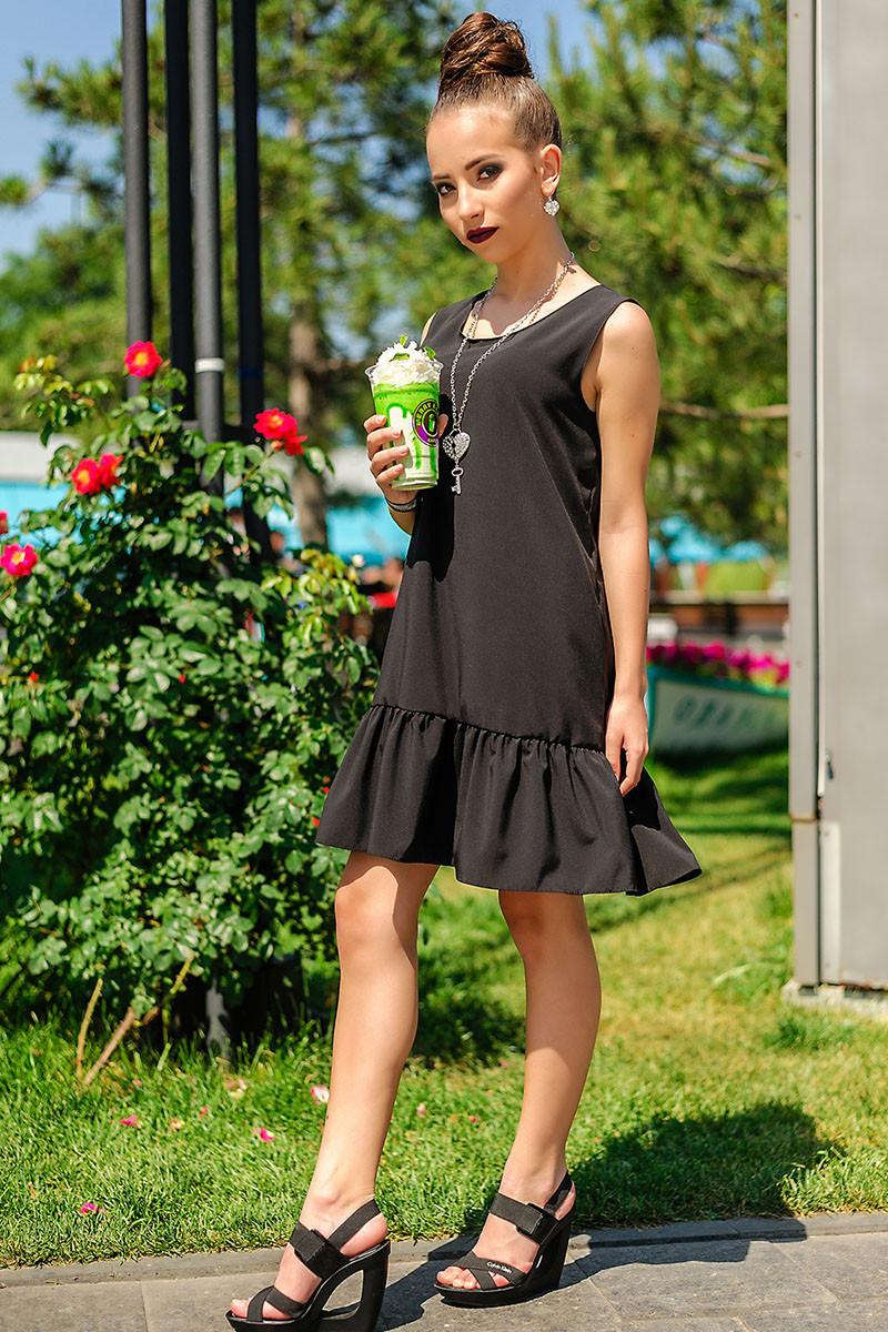 """Легкое Платье """"Сицилия"""", черный"""