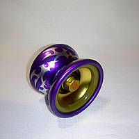 Йо-йо алюминиевое с подшипником (цвет - фиолетовый)