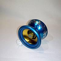 Йо-йо алюминиевое с подшипником (цвет - синий)