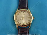 Часы Слава Созвездие GK09001 механические золотистые с коричневым в стразах автоподзавод скелетон