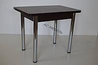 Стол раскладной для кухни на металлических ногах цвет венге магия