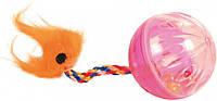 Мячик Trixie Rattling Ball with Tail для кошек пластиковый, 4 см