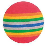 Мячик Trixie Rainbow Ball для кошек разноцветный, 3.5 см