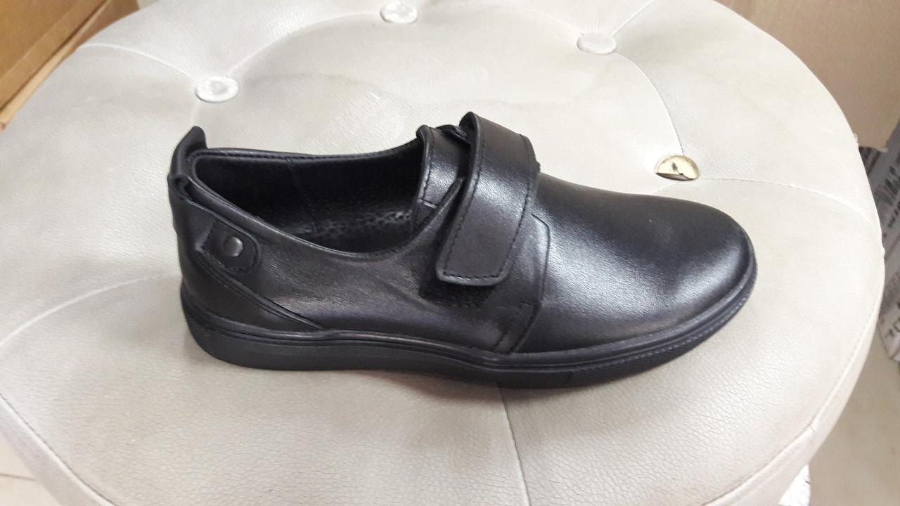 Кожаные подростковые туфли.