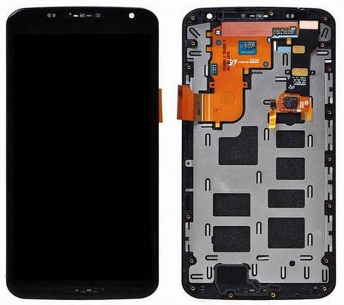 Дисплей (экран) для Motorola XT1103 Google Nexus 6 с сенсором (тачскрином) и рамкой черный, фото 2