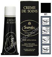Крем Для Гладких Кож Saphir Medaille D'or Creme de Soins, цв. черный (01), 75 мл