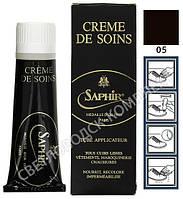 Крем Для Гладких Кож Saphir Medaille D'or Creme de Soins, цв. темно коричневый (05), 75 мл