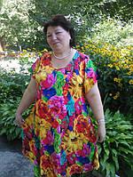 Женское хлопковое платье большого размера