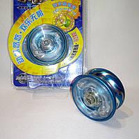 Йо-йо светящееся, алюминиевое с подшипником (цвет бирюзовый)