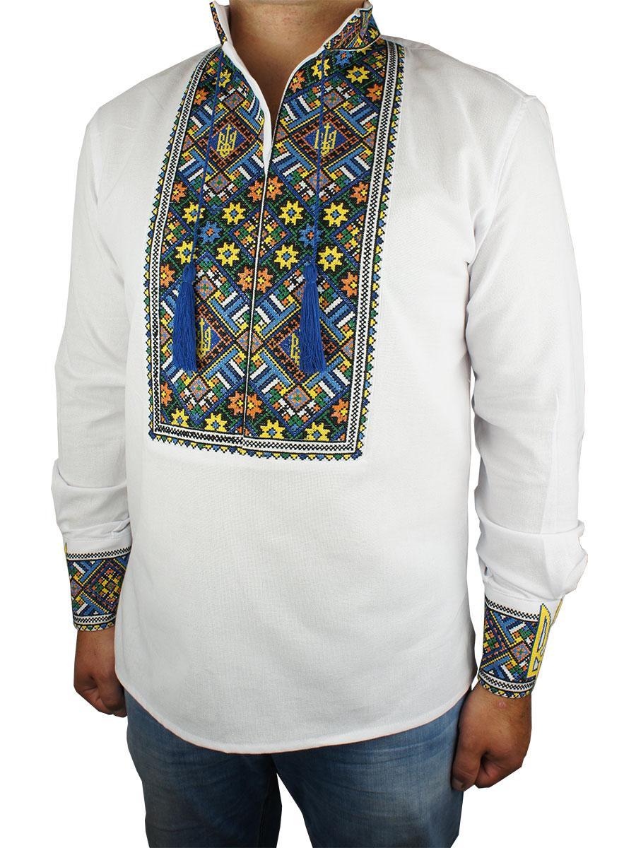 Чоловіча вишиванка Flax 072-ч Н - Магазин великих розмірів 5XL в Сумской области