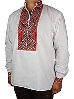 Чоловіча класична вишиванка Flax 018-ч Н червоного кольору