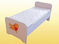 Кровать детская с закруглениями спинками (без матраса), 1436х636х615 мм. ДСП-16, БУК