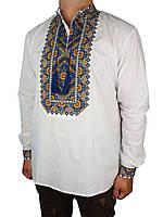 Чоловіча класична вишиванка з довгим рукавом Flax 006-ч Н осінні барви