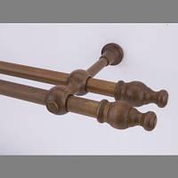 Карниз деревянный Прато двойной дуб 25/25мм/300СМ