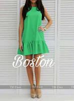 Милое коротенькое мини платье, ткань габардин. Разные цвета в ассортименте, размеры от 42 до 46. , фото 1