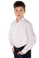 Рубашка белая для мальчика с длинным рукавом