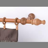 Карниз деревянный Прато одинарный светлый дуб 25мм/240СМ
