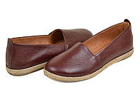 Туфли на низком ходу кожаные