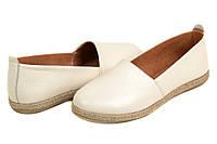 Туфли балетки бежевые кожа