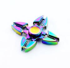"""Спиннер """"Градиент"""" Четыре луча. Rainbow-2. Металл.Hand Spinner.Фиджет"""