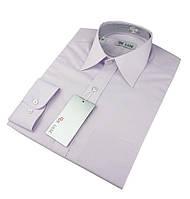 Мужская классическая рубашка De Luxe 207D светло-фиолетовая (длинный рукав)