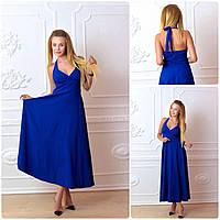 Платье длинное, М-2, цвет электрик