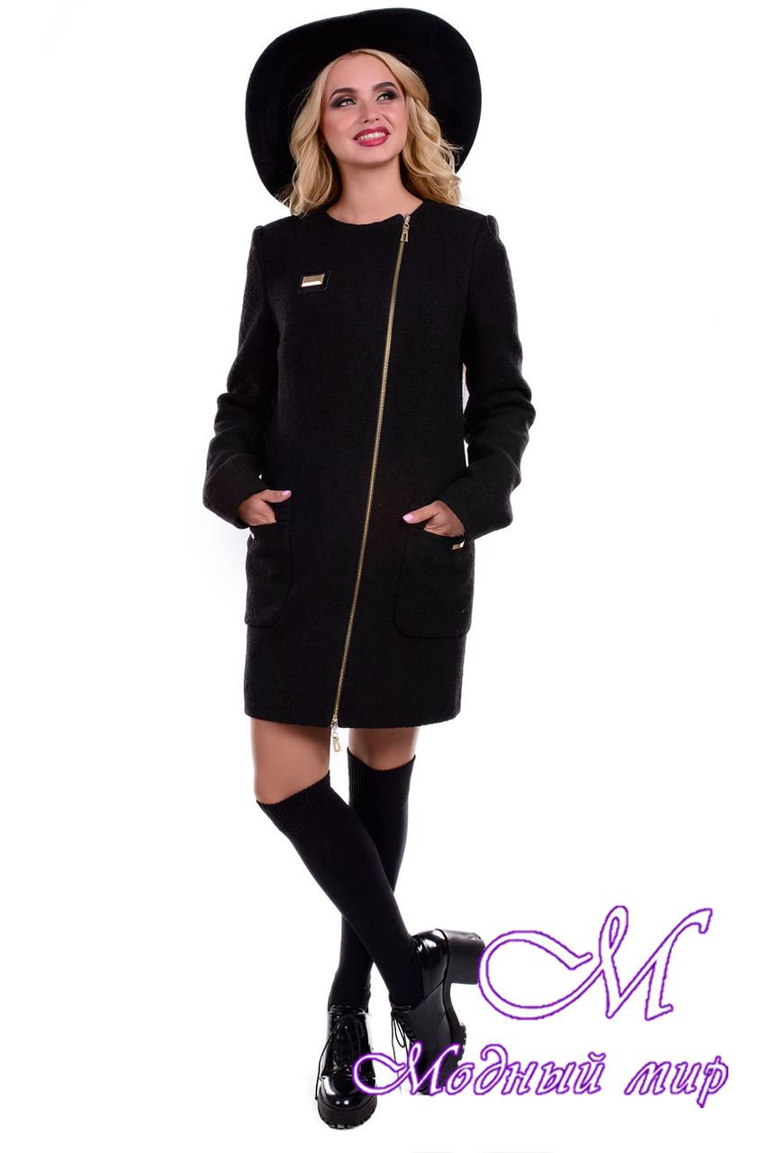 Женское черное демисезонное пальто (р. S, M, L) арт. Милтон 6682