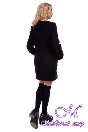 Женское черное демисезонное пальто (р. S, M, L) арт. Милтон 6682, фото 2