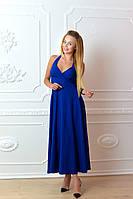 Платье длинное, М-2, цвет электрик, фото 1
