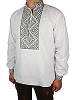 Мужская вышиванка Flax 012-ч Н серая