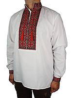 Классическая мужская вышиванка Flax 018-ч В черв.