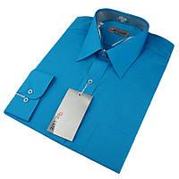 Мужская классическая рубашка De Luxe 420D морская волна (длинный рукав)