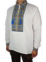 Мужская сорочка вышиванка Flax 007+005-ч Н на хлопке