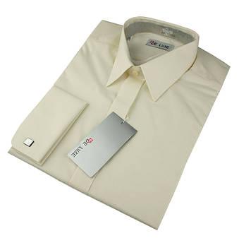Рубашка De Luxe 102DZ под запонку беж