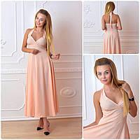 Платье длинное, М-2, цвет персик