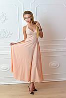 Платье длинное, М-2, цвет персик, фото 1