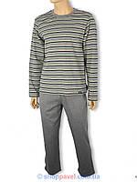 Пижама мужская Key серая в полоску MNS 333 B3 SZ