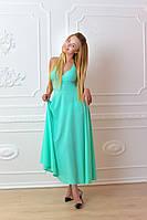 Платье длинное, М-2, цвет ментол, фото 1
