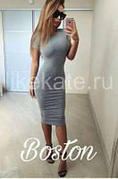 Милое миди платье, ткань француз. Разные цвета в ассортименте, размеры S-M-L., фото 1