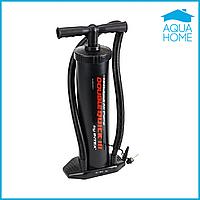 Ручной насос для надувания Intex 68615, размер 48 см, объем 5 л, черный