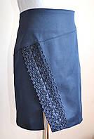 Детская юбка для девочки, синего цвета, школьная, фото 1